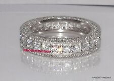 925 Sterling Silver Eternity CZ Ring Wedding Anniversary Band Sizes 5 6 7 8 9