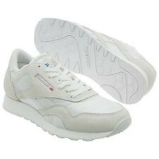 Reebok Classic Nylon Running Shoe in White and Lt Grey in Sizes 6.5 to 13