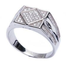 .50ct Men's Pave CZ Hot Fashion .925 Sterling Silver Ring Sizes 8-11