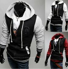 """3Color Mens letter """"G"""" Fashion Slim Fit Sexy Top Designed Hoodies Jackets Coats"""