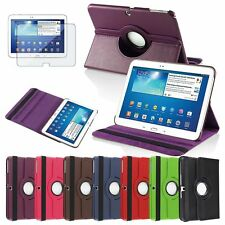 Tablet Leather Case Cover+Screen Protector For Samsung Galaxy Tab 3 10.1 P5200