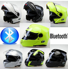 VIPER RS-V151 BLUETOOTH BLINC FLIP FRONT MOTORBIKE MOTORCYCLE HELMET  - TESTED