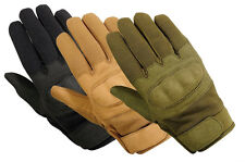 Tactical Hard Knuckle Gloves Police Military & Airsoft * Black,OD,Tan* All Sizes