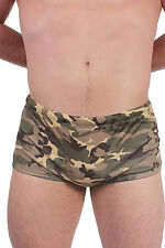 MEN'S CAMOUFLAGE SWIMWEAR BRIEFS SEXY ARMY GREEN CAMO BIKINI BOTTOMS HOT TRUNKS