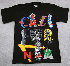 CALIFORNIA Graffiti Art T-shirt Big&Tall Tee CALI CA Mens Adult XLT-2XLT Black