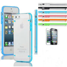 New Ultra Thin Transparent Crystal Clear Hard TPU Case Cover For iPhone 5 5S