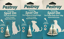 SPOT ON FLEA AND TICK TREATMENT FOR PUPPY,SMALL,LARGE DOGS.CATS,KITTENS 4 WEEKS