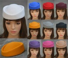 10 Color Fascinator Base Wool Air Hostesses Pillbox Hat Millinery Making A139