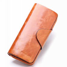 Women's Soft Genuine Leather Bifold Purse Vintage Designer Wallet Brand New