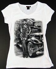 MARILYN MONROE V-Neck T-shirt Classic Graffiti Art Tee Womens JUNIORS S-XL White