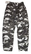 Military White & Black Camo Cargo Pants/Shorts/3/4's  3 in 1 Army Camouflage