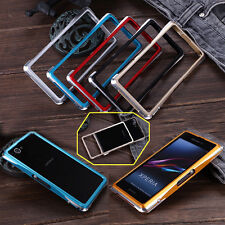 Dual Color Deluxe Aluminum Frame Metal Bumper Case For Sony Xperia Z1 Compact