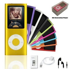 NEW 4GB 8GB 16GB Slim 4th Gen Mp3 Mp4 Player With 1.8 LCD Screen FM Radio Video