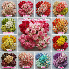 50 Mixed Colors mini Mulberry Paper  Rose Flowers of Wedding :20mm.