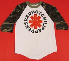 RED HOT CHILI PEPPERS T-shirt Camouflage Raglan Tee Adult S-XL 3/4Sleeve New