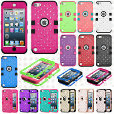 For iPod Touch 5 5th Gen HYBRID IMPACT TUFF Diamond Case Phone Cover Accessory