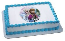 Frozen {Elsa & Anna} Edible Cake OR Cupcake Toppers Decoration by DecoPac