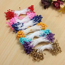 80 Artificial Flower Stamen Double Heads Pearlized Cards Cakes Decoration Craft