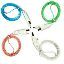 Light LED Micro USB Data Charger Cable For Samsung Galaxy Mega 6.3 S4 Active