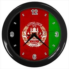 Afghanistan Grunge Flag  - Wall Clock (Choose from 7 Colors) -HH4017