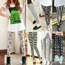 WOMEN Skinny Print Leggings Stretchy Sexy Jeggings Pencil Tights Pants 9 styles