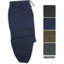 Big and Tall Men's Fleece Sweat Pants Elastic Bottom 2XL - 8XL, 2XLT, 3XLT- 5XLT