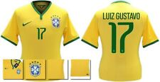 *14 / 15 - NIKE ; BRAZIL PLAYER ISSUE HOME SHIRT SS / LUIZ GUSTAVO 17 = SIZE*