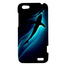 Blue Aura Shark - Hard Case for HTC Cell (30 Models) -OP4142
