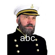 TITANIC CAPTAIN REAL HAIR BEARD MOUSTACHE MEN'S Fancy Dress Costume Party