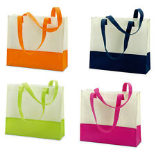 LADIES LARGE BEACH BAG-TWO TONE SUMMER TOTE SHOPPING SHOPPER HANDBAG