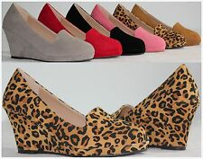 Brand New Women's Round Toe Fashion High Heel Platform Wedge Pumps Fast Shipping