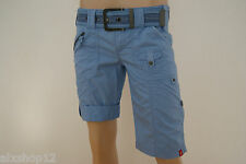 NEU EDC BY ESPRIT DAMEN SHORTS BAUMWOLL-BERMUDA+GÜRTEL PLAY FIT