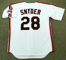 CORY SNYDER Cleveland Indians 1989 Majestic Throwback Home Baseball Jersey