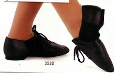 NEW/BOX Leather neoprene insert jazz shoes black Main Street 3532 various sizes