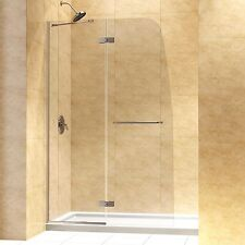 DreamLine Aqua Ultra Hinged Shower Door and 32x60-inch Shower Base