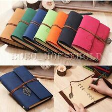 Vintage String PU Leather Cover Loose Leaf Blank Notebook Journal Diary Gift