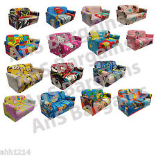 CHILDRENS DISNEY TV BRANDED CARTOON CHARACTER ARM CHAIR SOFA BEDROOM 2 SEATER