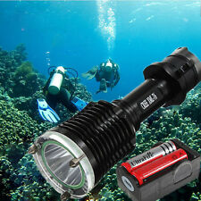 Torcia Lampada Luce Subacquea CREE XM-L T6 LED 2000 Lumens Immersione Diving 80m