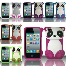For iPhone 4/4S 3D Baby Panda Bear Design Silicone Case Cover