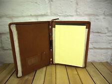 Real Leather Brown A4 folder Organiser with option to Personalise with Your Name