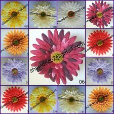 12pcs  16 cm silk flower heads artificial GERBERA + wire