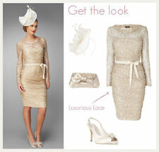 Phase Eight stunning Jemma oyster lace belted dress , wedding NEW rrp £130