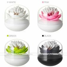 Living Style Bathroom Lotus Cotton Swap Bud Storage Box Cosmetic Makeup Case