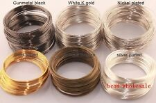 Wholesale 100/500 loop Silver/Gold Plated Memory Steel Wire Cuff Bangle Bracelet