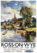 Ross On Wye, Herefordshire. BR (WR) Vintage Travel poster by Jack Merriott. 1951