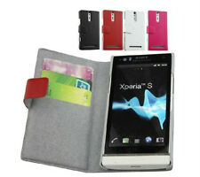 New Flip Genuine Real Leather Cover Case Pouch For Sony Xperia S LT26i SL LT26ii