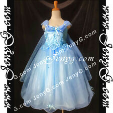 #PF01 Flower Girl/Holiday/Communions/Party/Formal Gown Dresses, Blue 3-14 Years