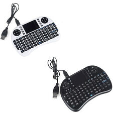 2.4G Mini Wireless QWERTY Keyboard Mouse Touchpad for PC Android Black White US