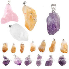 Natural Amethyst Quartz Healing Point Chakra Bead Gemstone Pendant for Necklace
