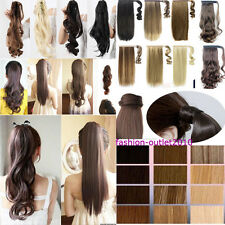 Clip In On Pony tail Hair Extensions curl str wave 4 US ponytails hot sale AAA59